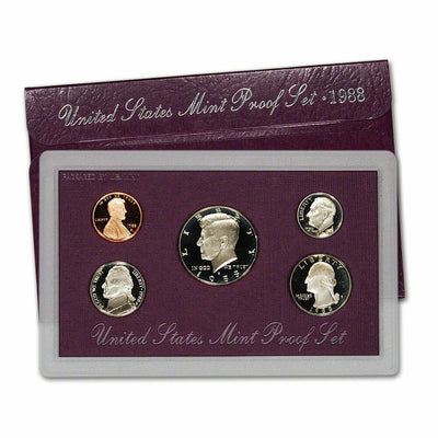 1988 US Proof Set - 5 Coins