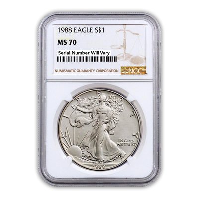 1988 Silver Eagle - Business Strike - NGC MS70 - CoinsTV