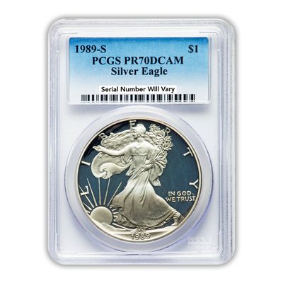 1989 Silver Eagle - Proof - PCGS PR70 - CoinsTV