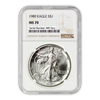 1989 Silver Eagle - Business Strike - NGC MS70 - CoinsTV