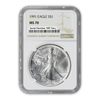 1991 Silver Eagle - Business Strike - NGC MS70 - CoinsTV