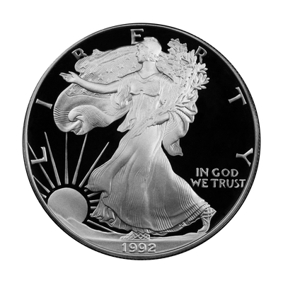 1992 Silver Eagle - San Francisco Proof - Original Government Packaging (OGP)