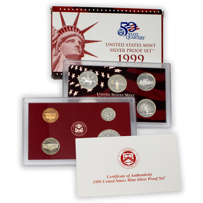 1999 Silver Proof Set - 9 Coins
