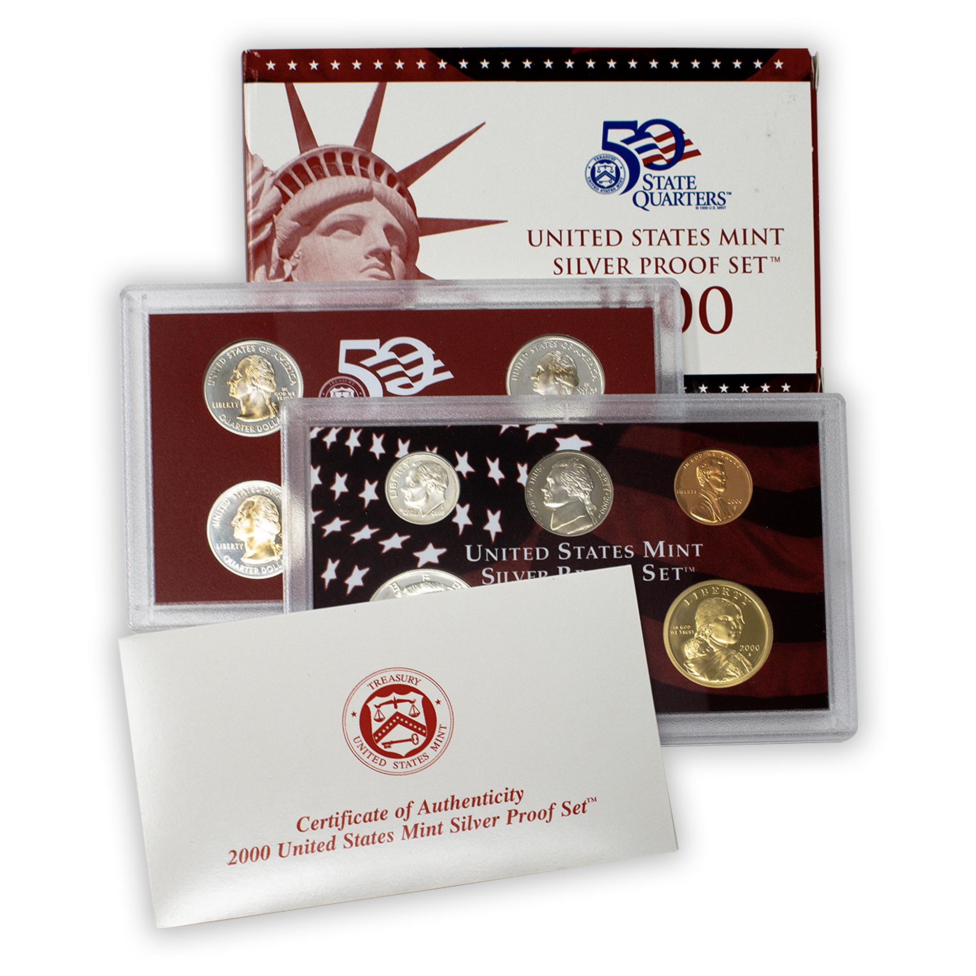2000 Silver Proof Set - 10 Coins