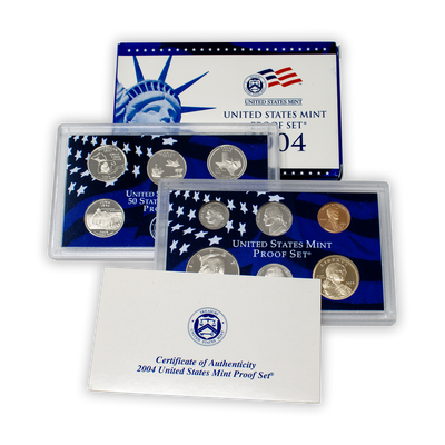 2004 US Proof Set - 11 Coins