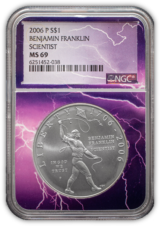 2006 Franklin Scientist - Lightning Core - NGC MS69