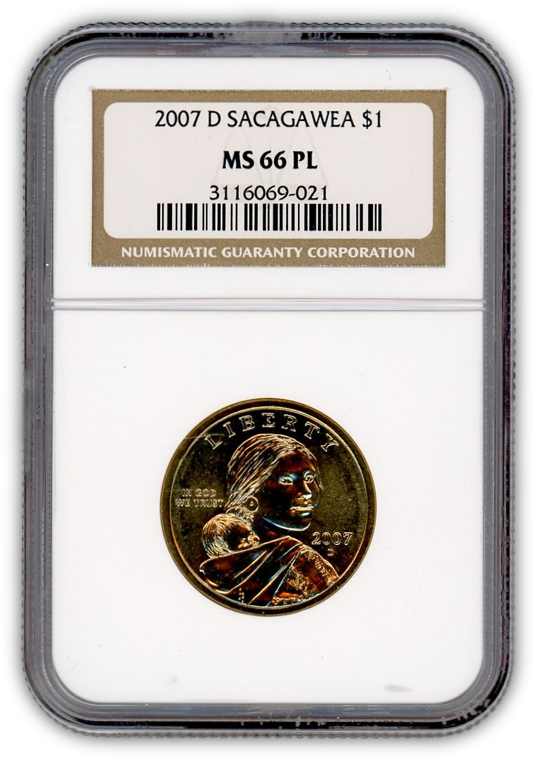 2007 Sacagawea Dollar Denver - NGC MS66 PL Prooflike