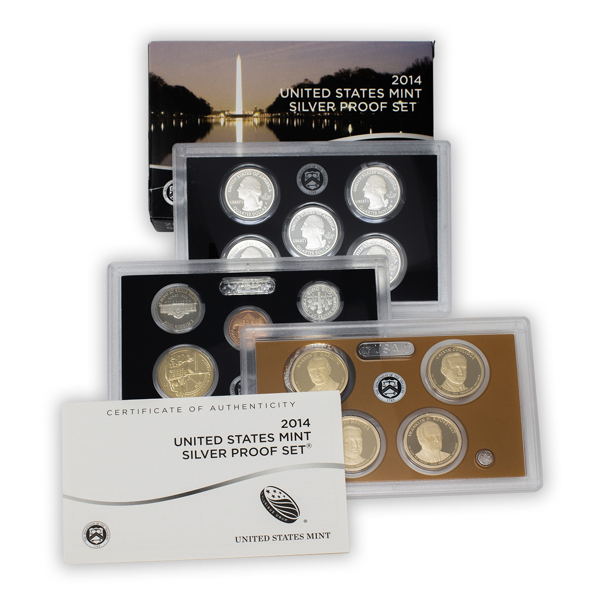 2014 Silver Proof Set - 14 Coins