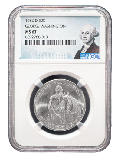 1982 George Washington Silver Half Dollar - NGC MS67