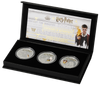 2021 Wizarding World of Harry Potter 3 pc 1 Oz Silver Coin Proof Set