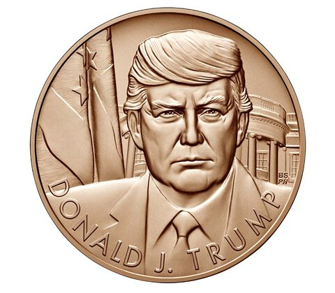 Donald Trump 1 5/16th inch Official US Mint Bronze Medal