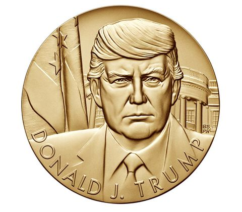 Donald Trump 3 inch Official US Mint Bronze Medal