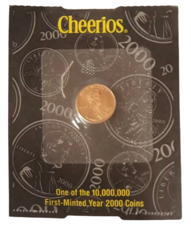 2000 Lincoln Cent - Philadelphia - Cheerios Pack