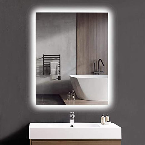 Simpon Rectangular Wall Mirror with Backlight - FurnLane - Bespoke Luxury