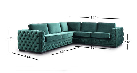 Jackson Chesterfield Sectional Sofa - 4 Seater - FurnLane - Bespoke Luxury