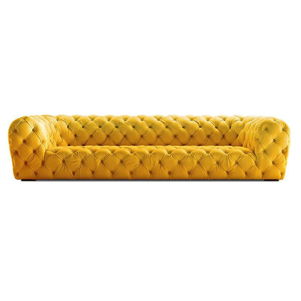 Vintage Yellow Chesterfield Sofa - 3 Seater