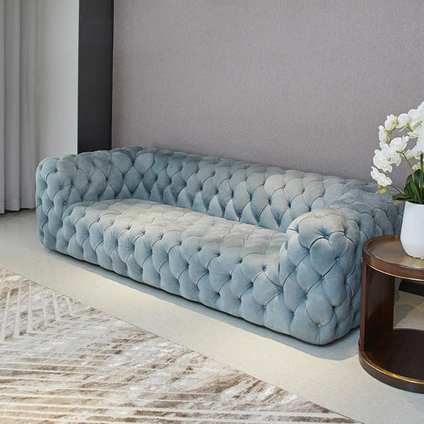Vintage Grey Chesterfield Sofa - 2 Seater