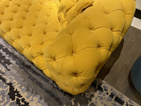 Vintage Yellow Chesterfield Sofa - 3 Seater - FurnLane - Bespoke Luxury