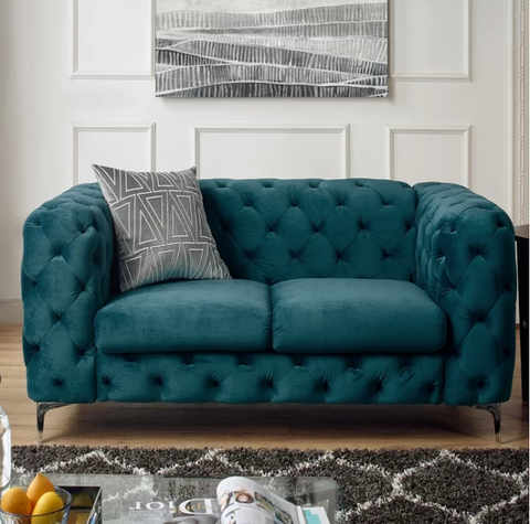 Vintage Bottle Green Chesterfield Sofa - 2 Seater - FurnLane - Bespoke Luxury