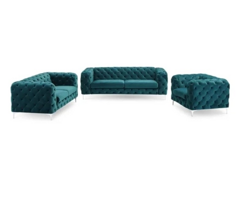 Vintage Bottle Green Chesterfield Sofa - 3+2+1 Seater - FurnLane - Bespoke Luxury