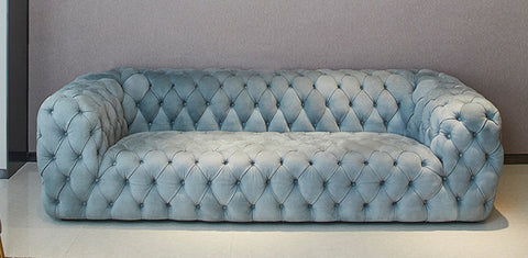 Vintage Grey Chesterfield Sofa - 2 Seater - FurnLane - Bespoke Luxury