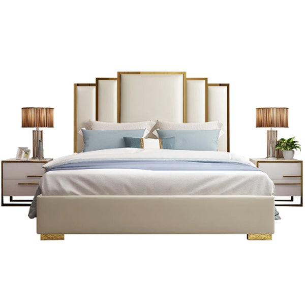 Goldi Premium Upholstered Bed - Solid Plywood