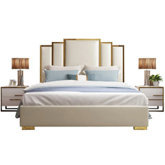 Goldi Premium Upholstered Bed - Solid Plywood - FurnLane - Bespoke Luxury