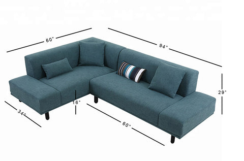 Lucas Left Aligned Sectional Sofa - 3 Seater - FurnLane - Bespoke Luxury