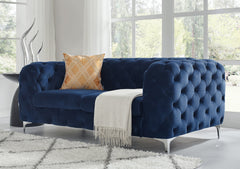 Vintage Blue Chesterfield Sofa - 2 Seater - FurnLane - Bespoke Luxury