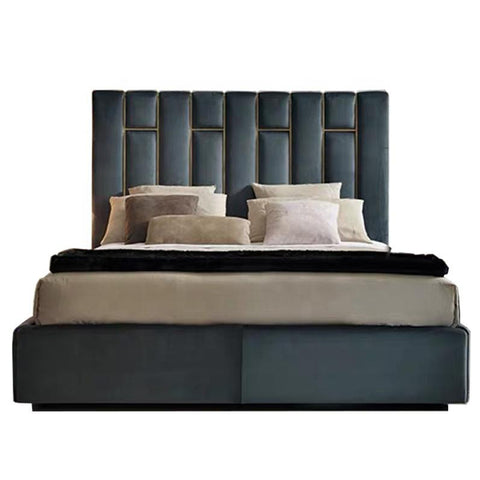 James Upholstered Bed - Solid Plywood - FurnLane - Bespoke Luxury