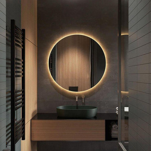 "Simpon 36"" Wall Mirror with Backlight - FurnLane - Bespoke Luxury"