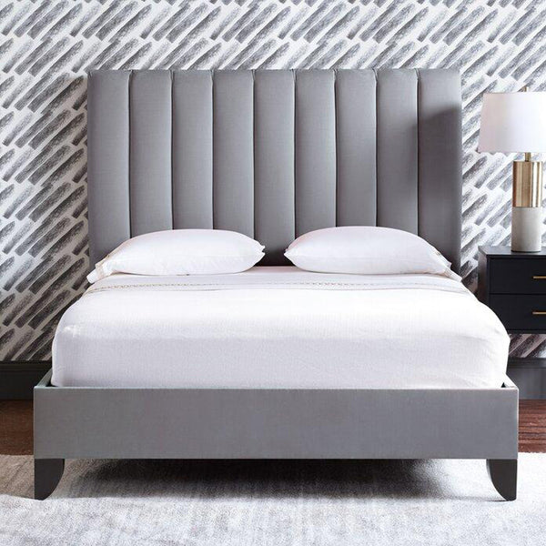 Hayden Low Height Upholstered Bed - Solid Plywood