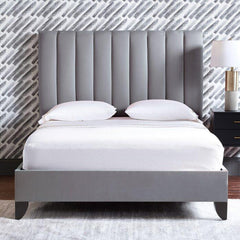 Hayden Low Height Upholstered Bed - Solid Plywood - FurnLane - Bespoke Luxury