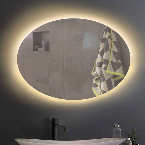 Simpon Oval Wall Mirror with Backlight - FurnLane - Bespoke Luxury