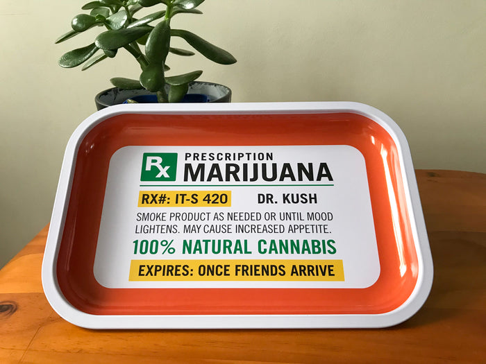 Prescription Marijuana Rolling Tray