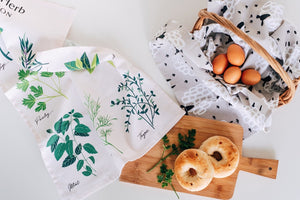 Culinary Herbs Tea Towel - Unique Australian Kitchenware