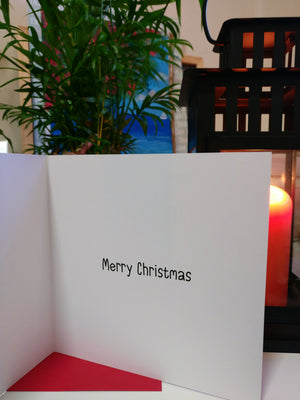 Uber and Santa - Quirky Christmas Cards