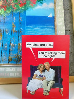 Rolling Stiff Joints - Senior Moments Funny Cards