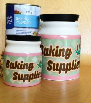 Large Baking Supplies Stash It Storage Jar - Quirky Kitchen Storage Solutions