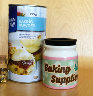 Small Baking Supplies Stash It! Storage Jar - Stoner Accessories