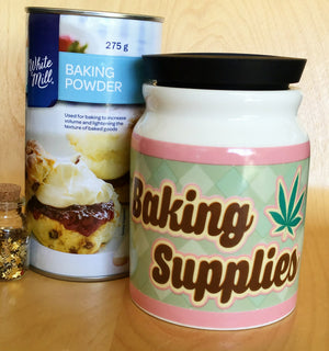 Large Baking Supplies Stash It Storage Jar - Quirky Modern Home Kitchenware