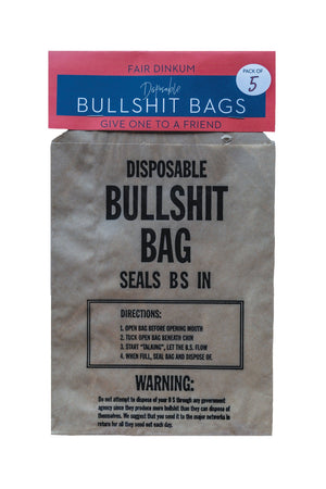 Disposable Bullshit Bags - Fun Gifts For Friends