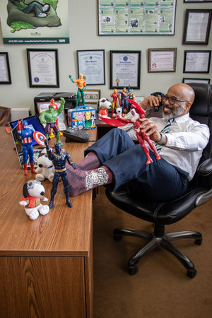 Coolest Guy On The Conference Call - Funny Quirky Men's Socks. Office Gifts