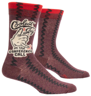 Coolest Guy On The Conference Call - Funny Quirky Men's Socks