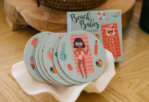Cute Coaster Sets - Beach Vibes