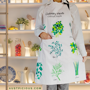 Culinary Herb Collection Apron - Cute Aprons