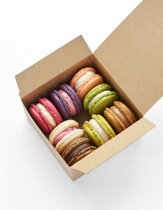Mixed box of monthly seasonal flavour macarons