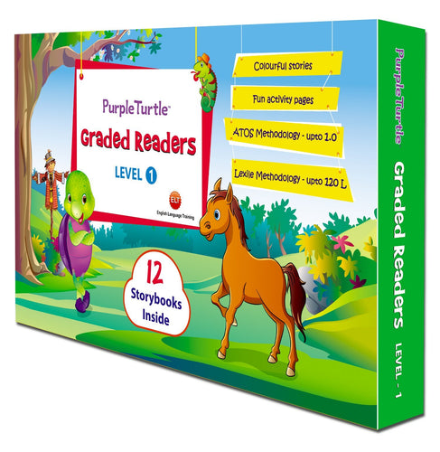 Popular Graded Reader, Level 1 Learn English - Purple Turtle