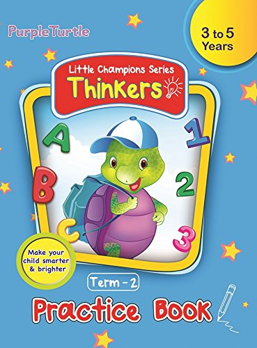 Purple Turtle Thinkers Level 1 Term 2 Practice Book for Nursery Kids