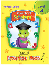 Load image into Gallery viewer, Purple Turtle Preschool Scholars Term 1 (Level 3) Practice Book